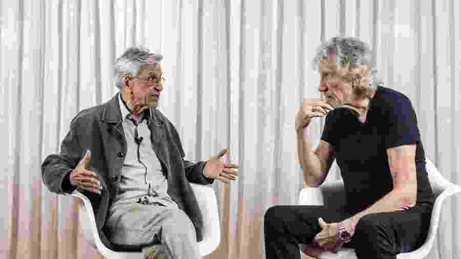 Caetano Veloso entrevista Roger Waters - Reprodução/Mídia Ninja