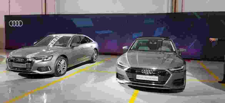 Novos A6 (à esquerda) e A7 foram exibidos pela primeira vez no Brasil em novembro do ano passado, no Salão do Automóvel - Eugênio Augusto Brito/UOL