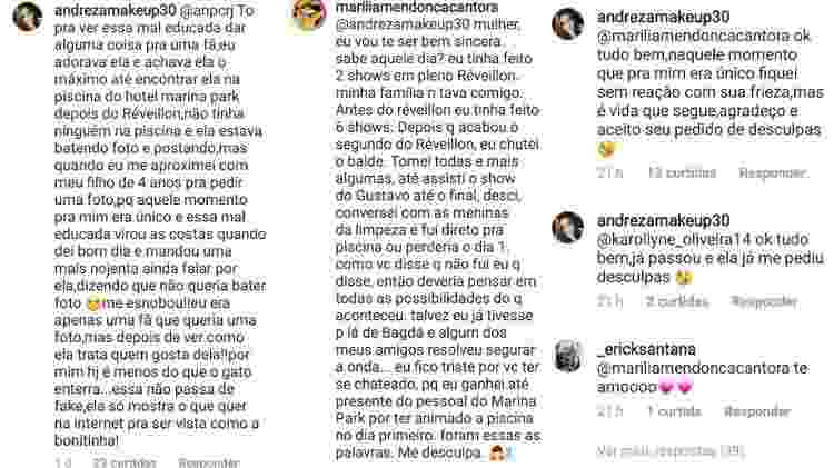 Fã critica Marília Mendonça e cantora responde - Reprodução/Instagram - Reprodução/Instagram