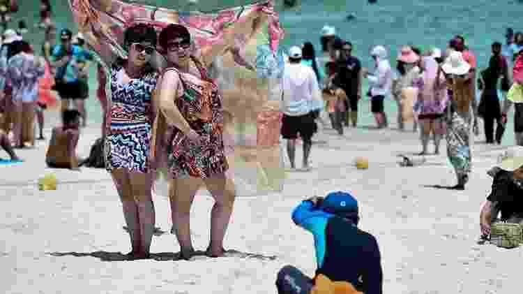 Mais de 3,5 mil turistas chegavam a desembarcar por dia em Maya Bay - Getty Images - Getty Images