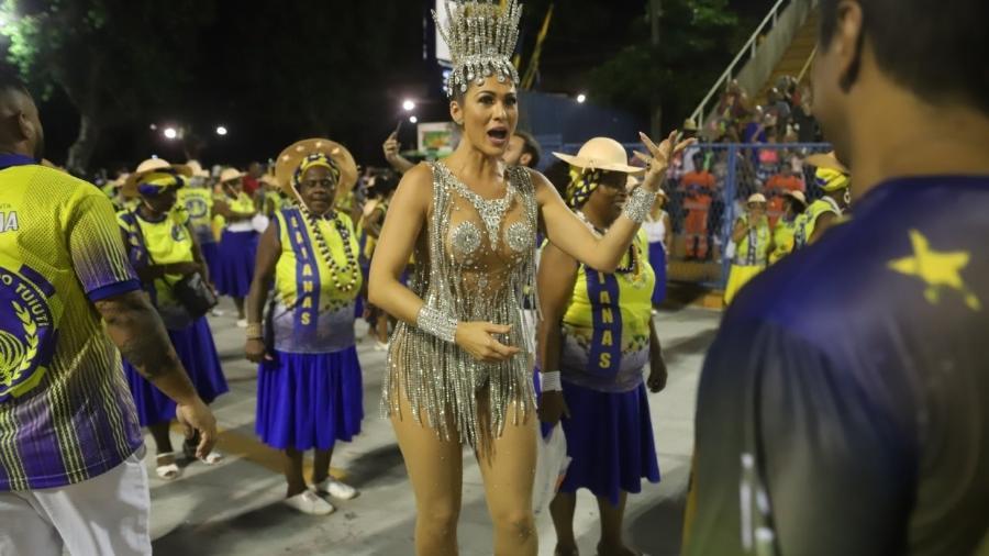 Lívia Andrade durante ensaio técnico doParaíso do Tuiuti - Daniel Pinheiro/AgNews