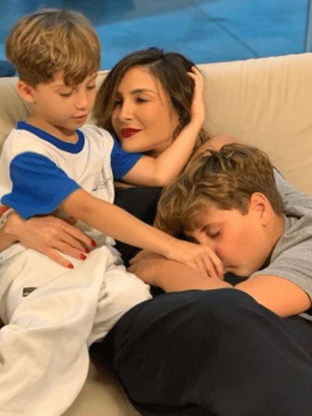 Claudia Leitte e os filhos, Rafael e Davi - Reprodução/Instagram