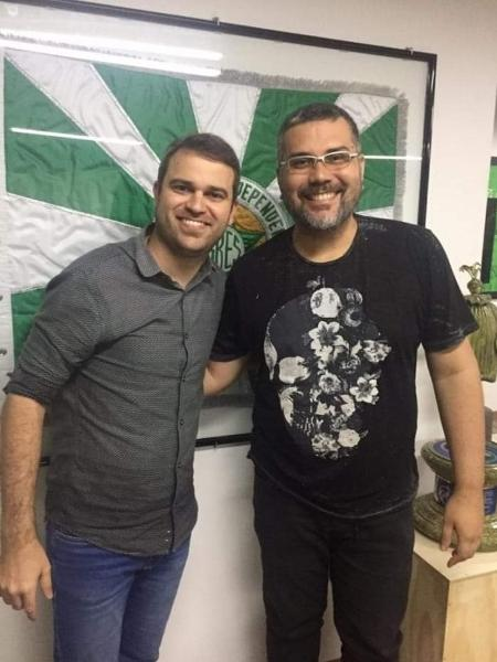 Jack com Rodrigo Pacheco, vice-presidente da Mocidade  - Divulgação