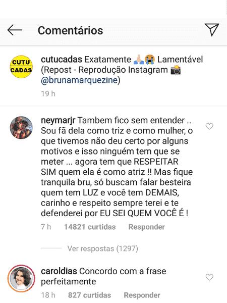 Print de Neymar - Reprodução/Instagram - Reprodução/Instagram