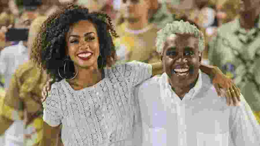 """Dandara Mariana e seu pai, Romeu Evaristo, que fez o Saci Pererê na primeira versão do """"Sítio do Pica-pau Amarelo"""" - Reprodução/Instagram"""
