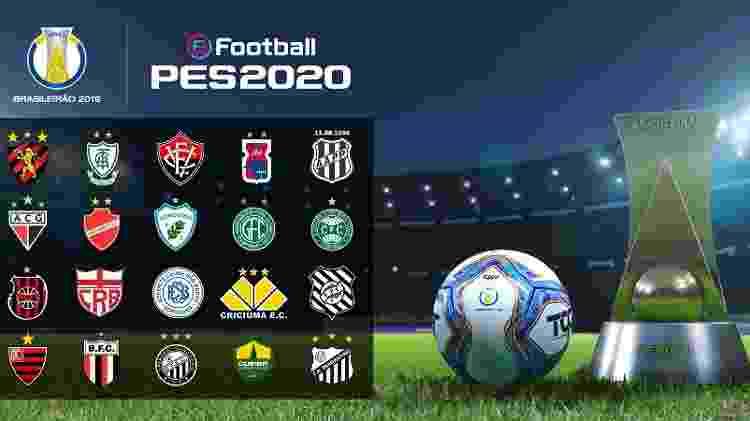 Todos os times da série B estarão em PES 2020 - Divulgação