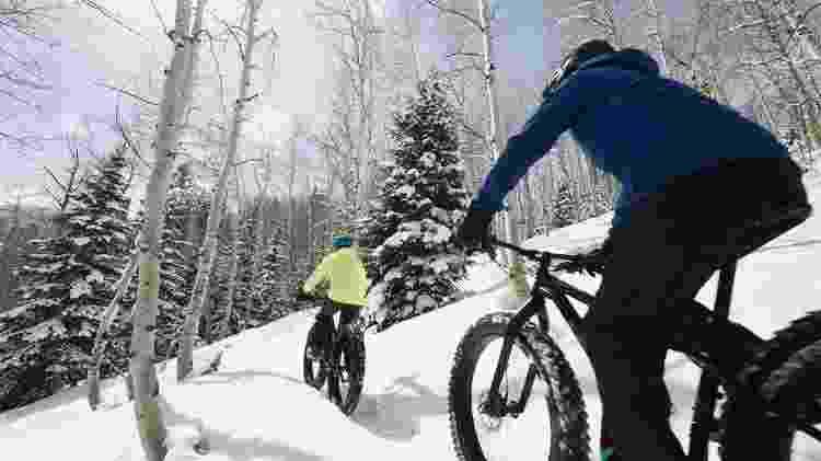 Bicicleta na neve? No fat biking, as bikes têm design especial para terrenos nevados - Divulgação - Divulgação