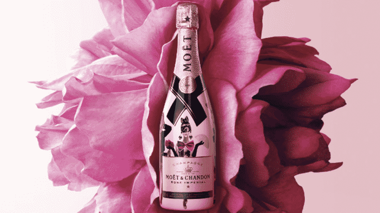 Champanhe rosé edição limitada em homenagem a Madame de Pompadour - Reprodução - Reprodução