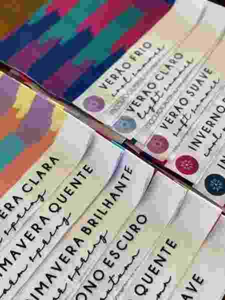 colorimetria - cartela  - Arquivo pessoal - Arquivo pessoal