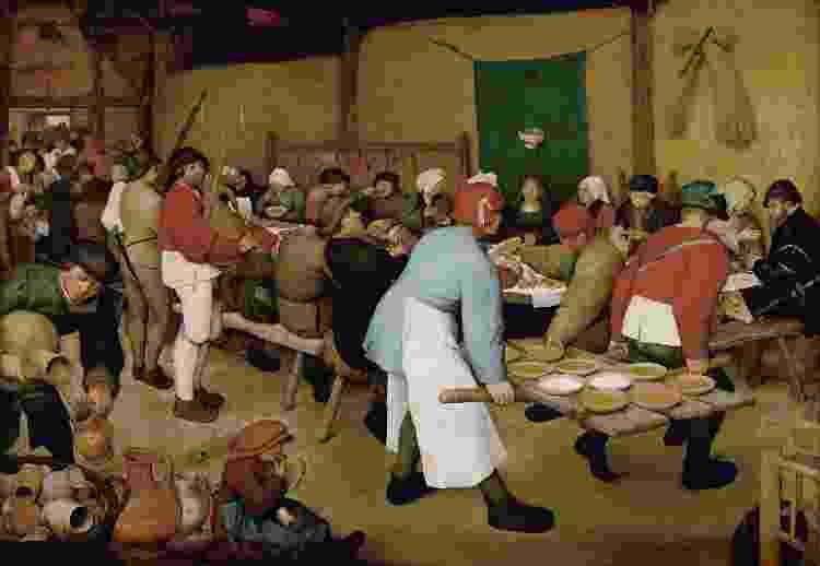 A Boda Camponesa, de Pieter Bruegel, o Velho - Creative Commons - Creative Commons