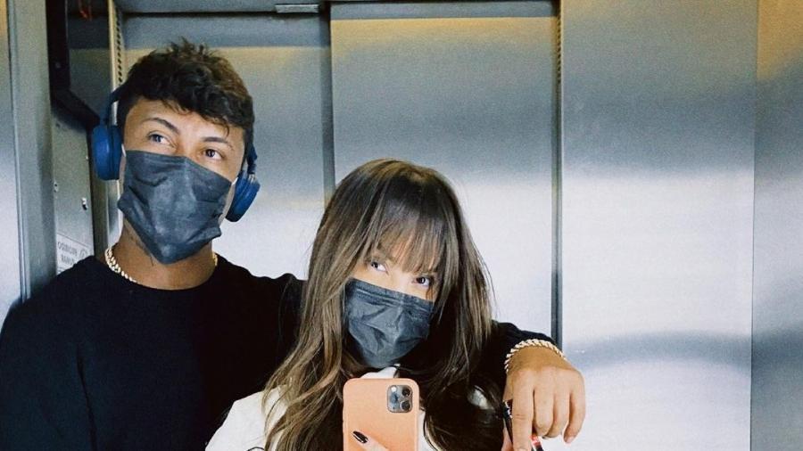 Thaís Braz e Xamã juntos em maio - Reprodução/Instagram @thaisbraz