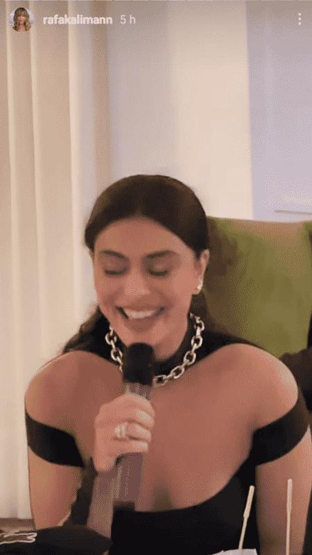 Juliana Paes canta no karaokê de Rafa Kalimann - Reprodução/Instagram - Reprodução/Instagram