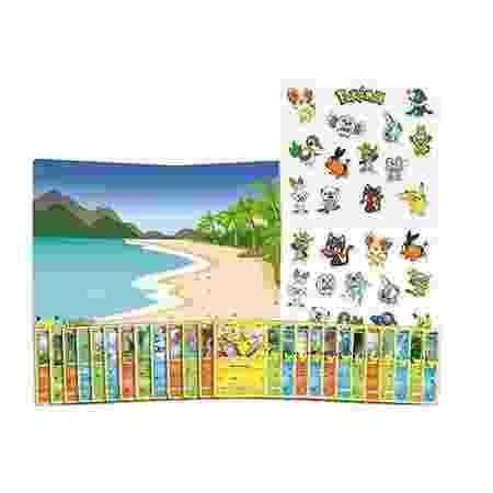 Cenário e adesivos de Pokémon para o McLanche Feliz - Divulgação/McDonald's - Divulgação/McDonald's