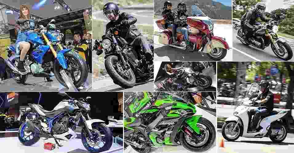 Mosaico de abre 10 motos que chegam em 2016 - Arte UOL Carros