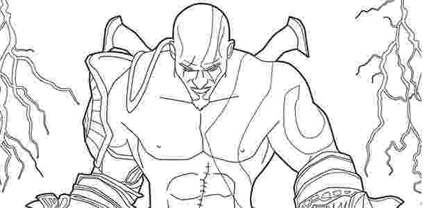 kratos para pintar até playstation tem livro de colorir 04 11