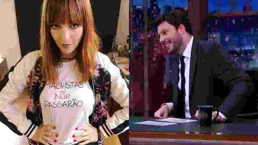 Titi Muller e Danilo Gentili bateram boca - Reprodução/Instagram e Reprodução/SBT