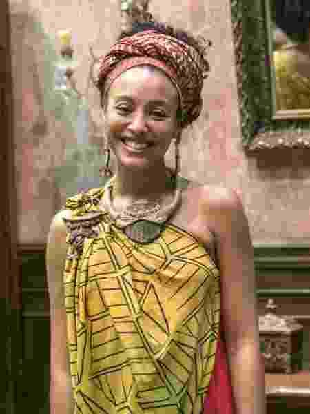 Diara (Sheron Menezzes) com figurino de rainha africana - Rafael Campos/Divulgação/TV Globo - Rafael Campos/Divulgação/TV Globo
