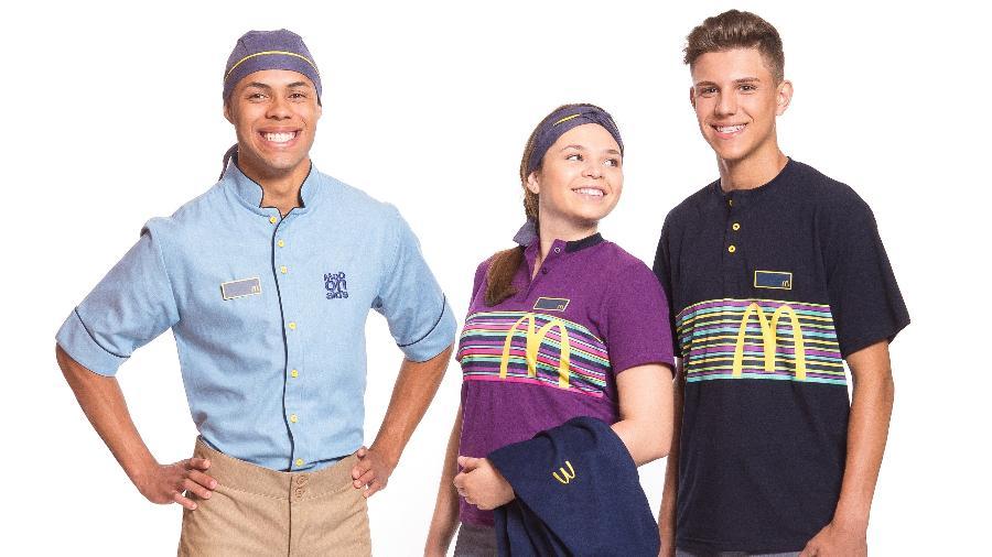 """Novos uniformes Mc Donald""""s - Divulgação"""