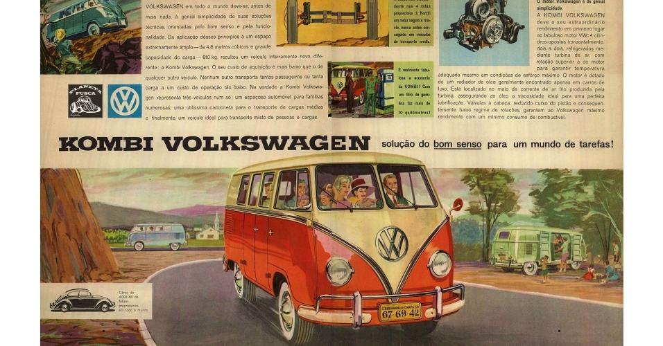 Anúncio Volkswagen Kombi 1960