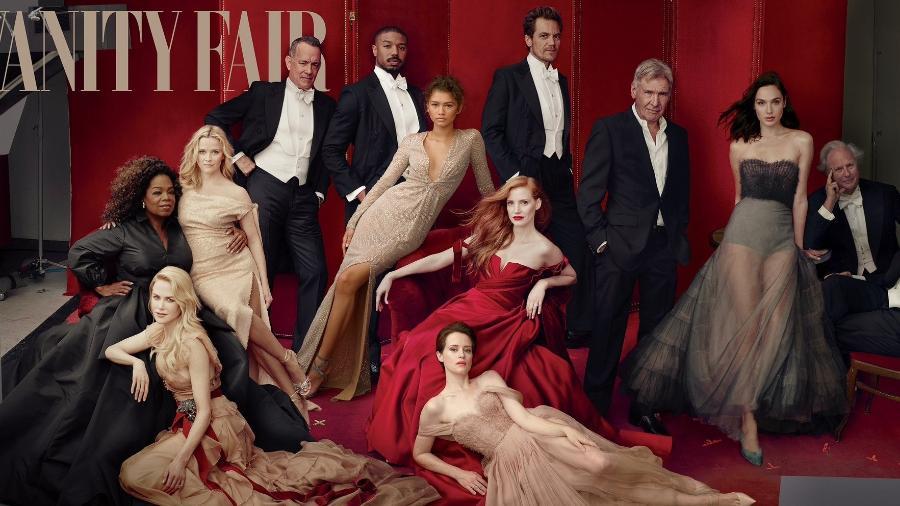 """Reese Witherspoon aparece com três pernas em ensaio da revista """"Vanity Fair"""" - Reprodução/Twitter/VanityFair"""