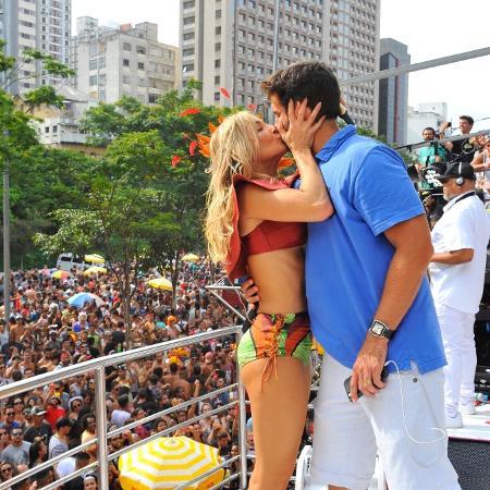 Claudia Leitte e o marido, o empresário Márcio Pedreira - Samuel Chaves/Brazil News
