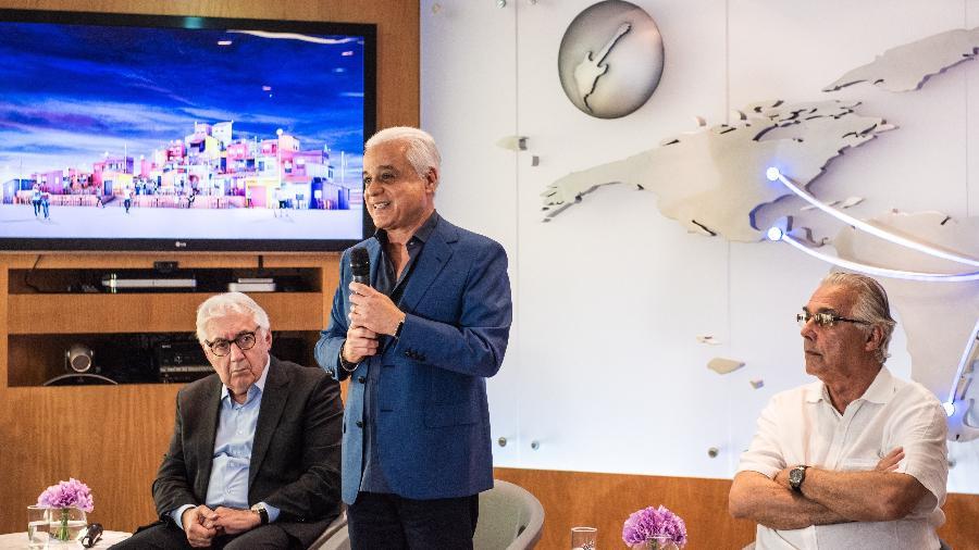 O empresário Roberto Medina apresenta o novo Espaço Favela do Rock in Rio - Divulgação