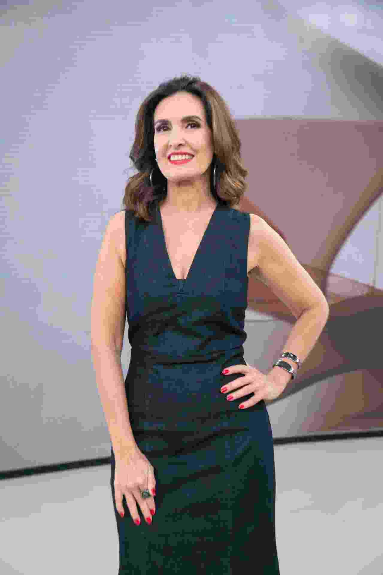 "Fátima Bernardes no ""Encontro"" - Rafael Campos/TV Globo"