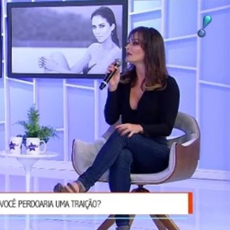 """Laura Keller no """"Sensacional"""" - Reprodução/ Rede TV"""