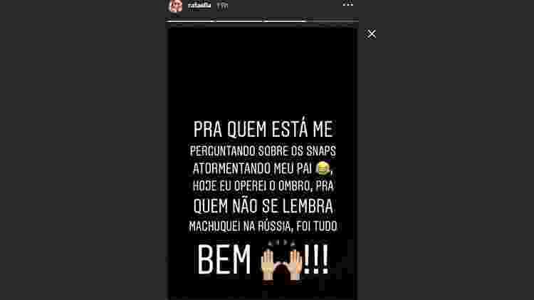 Rafaella Santos tranquilza fãs sobre cirurgia no ombro - Reprodução/Instagram - Reprodução/Instagram