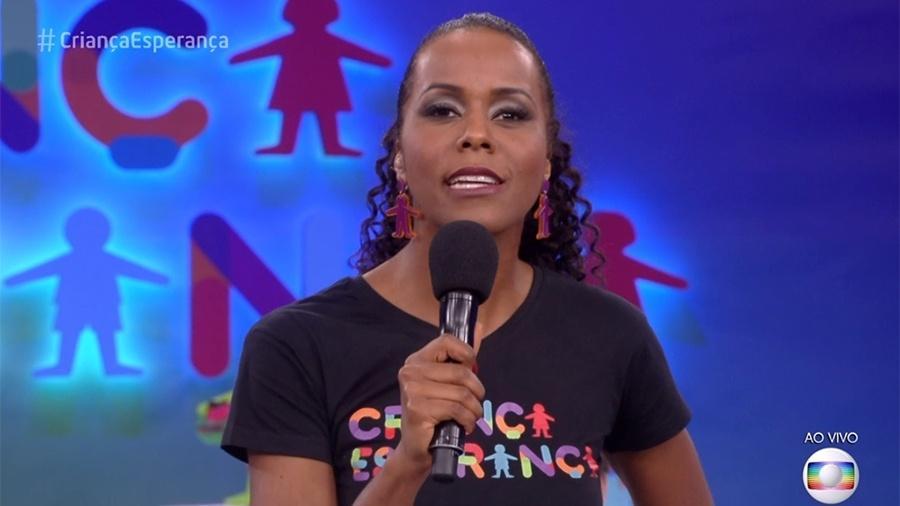 """Maju Coutinho aparece de novo visual no """"Criança Esperança"""" - Reprodução/TV Globo"""