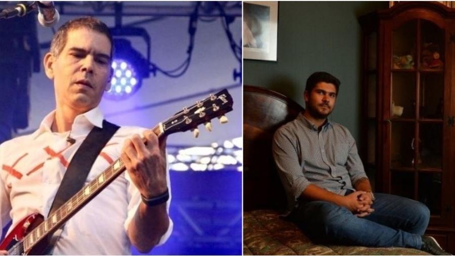 O guitarrista Dado Villa-Lobos e Giuliano Manfredini, filho de Renato Russo - Montagem UOL
