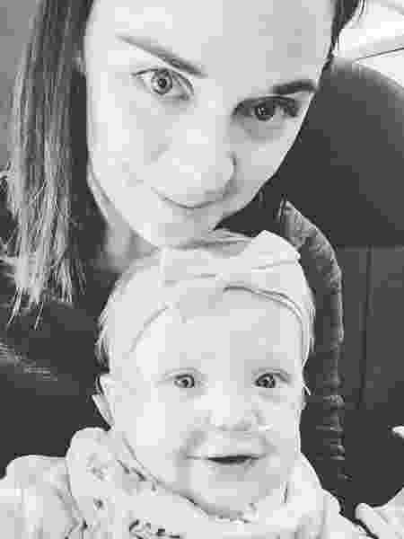 Kelsey Rae Zwick e a filha, Lucy - Reprodução/Facebook