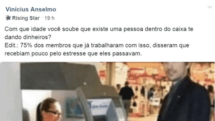 Vinicius - Reprodução/Facebook - Reprodução/Facebook