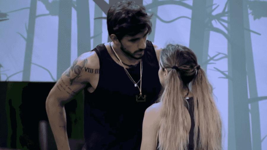 Guilherme conversa com Gabi após vencer a prova do líder - Reprodução/Globoplay