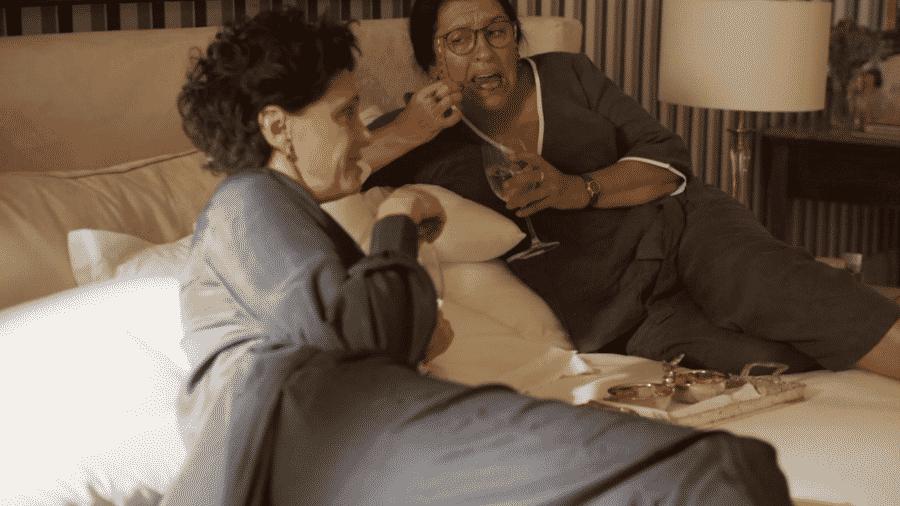 Lurdes e Lidia em Amor de Mãe - Reprodução/Globoplay