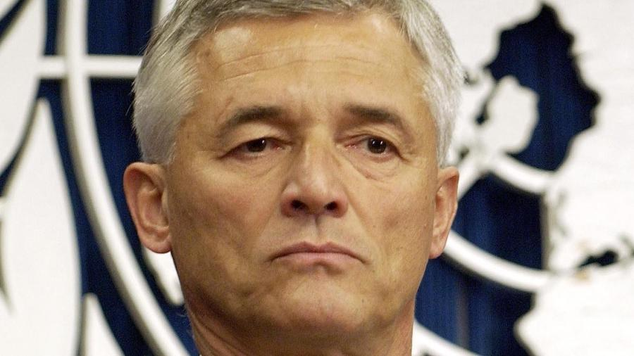 Sérgio Vieira de Mello na ONU, em foto de 2003 - Reuters