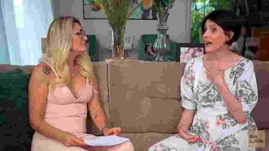 Malga di Paula durante entrevista para Antônia Fontenelle - Reprodução/Youtube