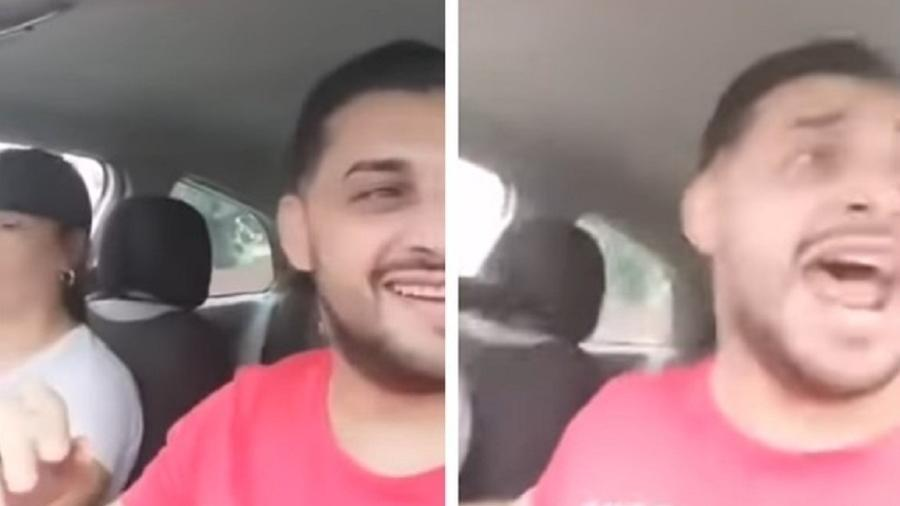 O cantor romeno Tavy Pustiu fazia uma transmissão ao vivo com a mulher quando seu carro foi atingido por um trem - Reprodução/DailyStar