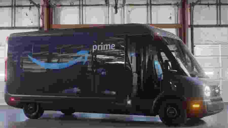 Van elétrica de entregas da Amazon - Divulgação