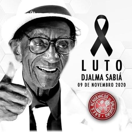 Sabiá tinha 94 anos e era o último remanescente dos fundadores da escola - Divulgação