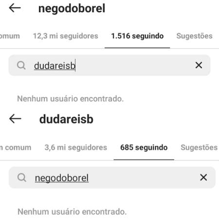 Nego do Borel e Duda Reis não se seguem mais após término - Reprodução/Instagram - Reprodução/Instagram