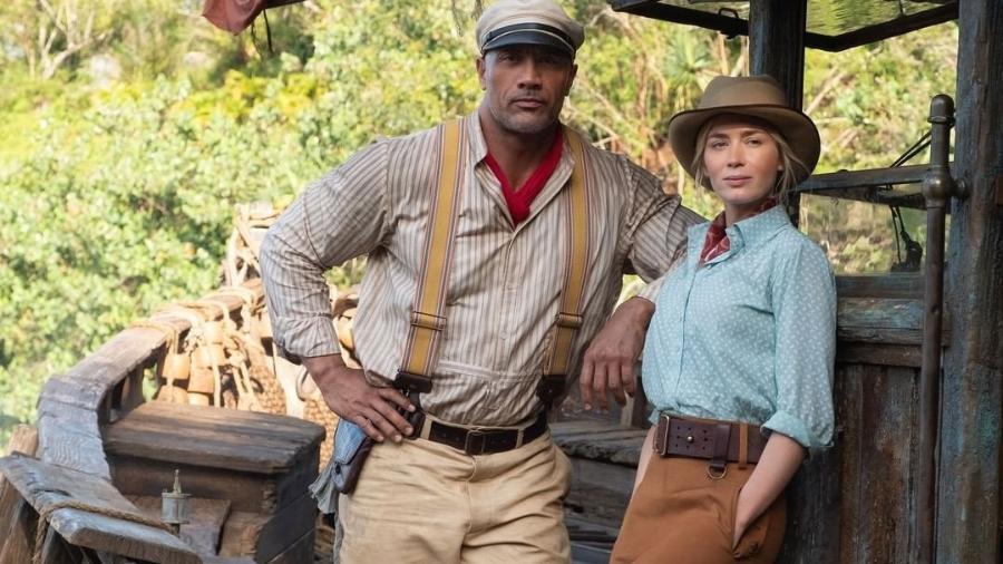 "Dwayne Johnson e Emily Blunt estrelam ""Jungle Cruise"", da Disney - Instagram/@disneysjunglecruise"
