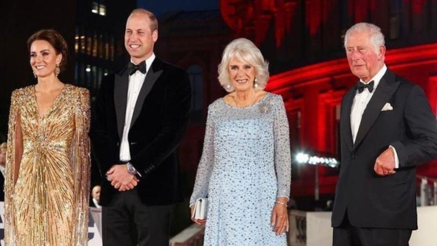Família Real: Kate Middleton, príncipe William, Charles e Camilla - Reprodução/Instagram