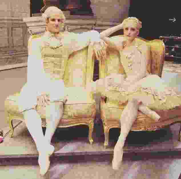 O bailarino amazonense Marcelo Gomes como o príncipe Desire ao lado da princesa Aurora no espetáculo do grupo American Ballet Theatre - Reprodução/Instagram