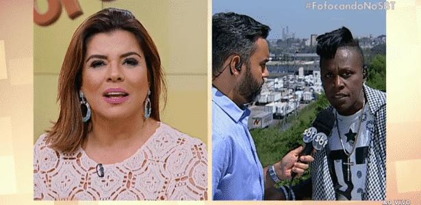 Mara Maravilha e Neném discutem ao vivo após comentário polêmico - Reprodução/SBT.com.br