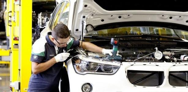 Linha de montagem da BMW