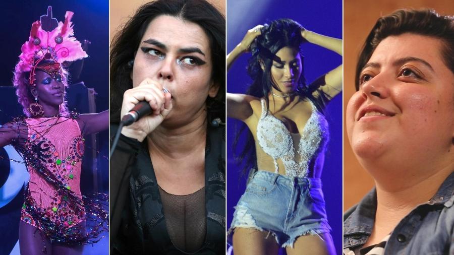 Karol Conká, Ava Rocha, Simone e Simaria e Ana Vilela mandam o recado através das próprias canções - Montagem/UOL