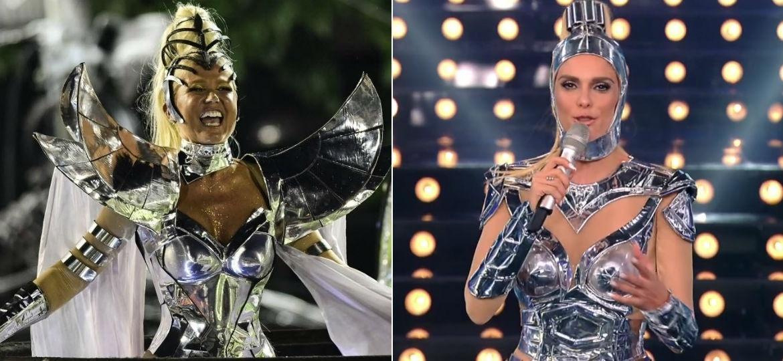"""Fernanda Lima aparece no """"Amor & Sexo"""" com figurino igual ao usado por Xuxa no Carnaval - Reprodução/TV Globo/André Fabiano/FolhaPress"""