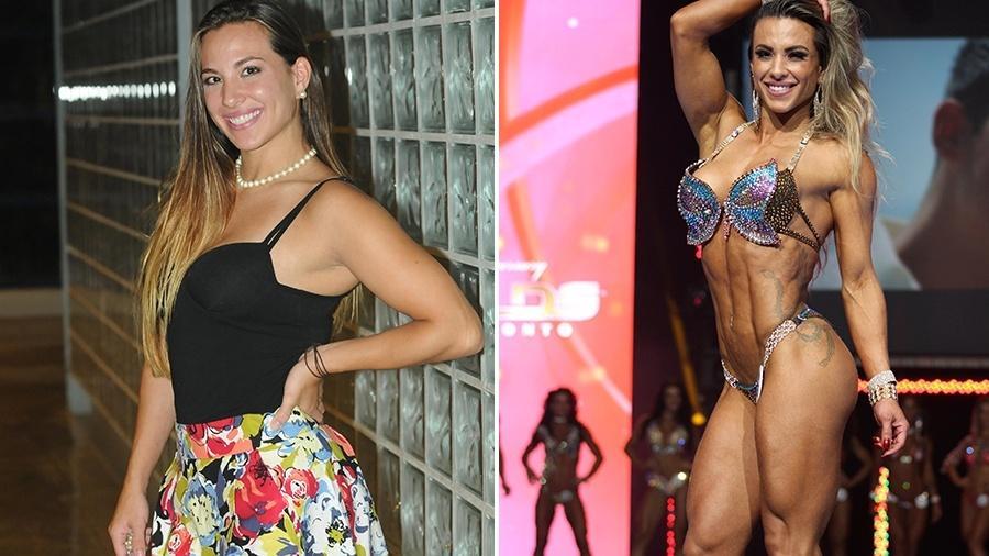"""Antes e depois: Michelly Crisfepe na época do """"BBB"""", em 2011, e atualmente - Divulgação/TV Globo/Divulgação"""
