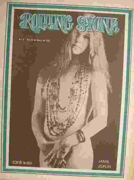 """Janis Joplin estampa a capa da """"Rolling Stone"""" número 4 - Reprodução"""